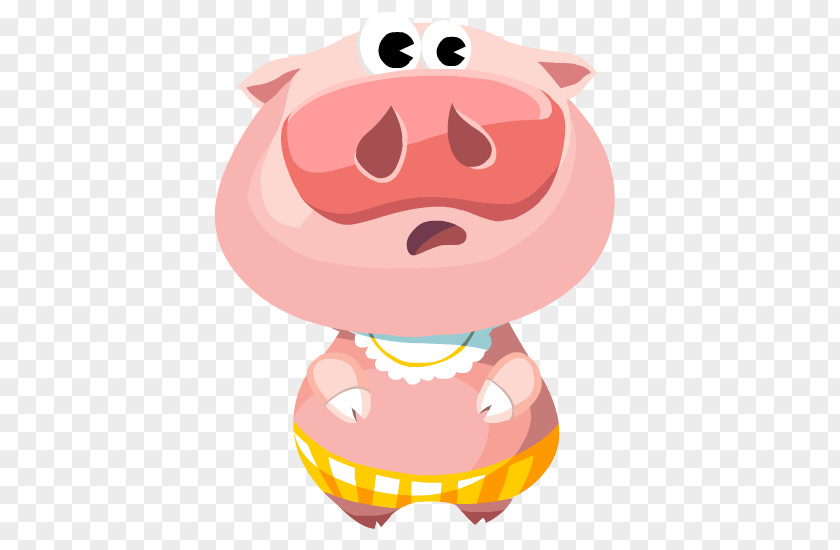 Smile Animation Pig Cartoon PNG