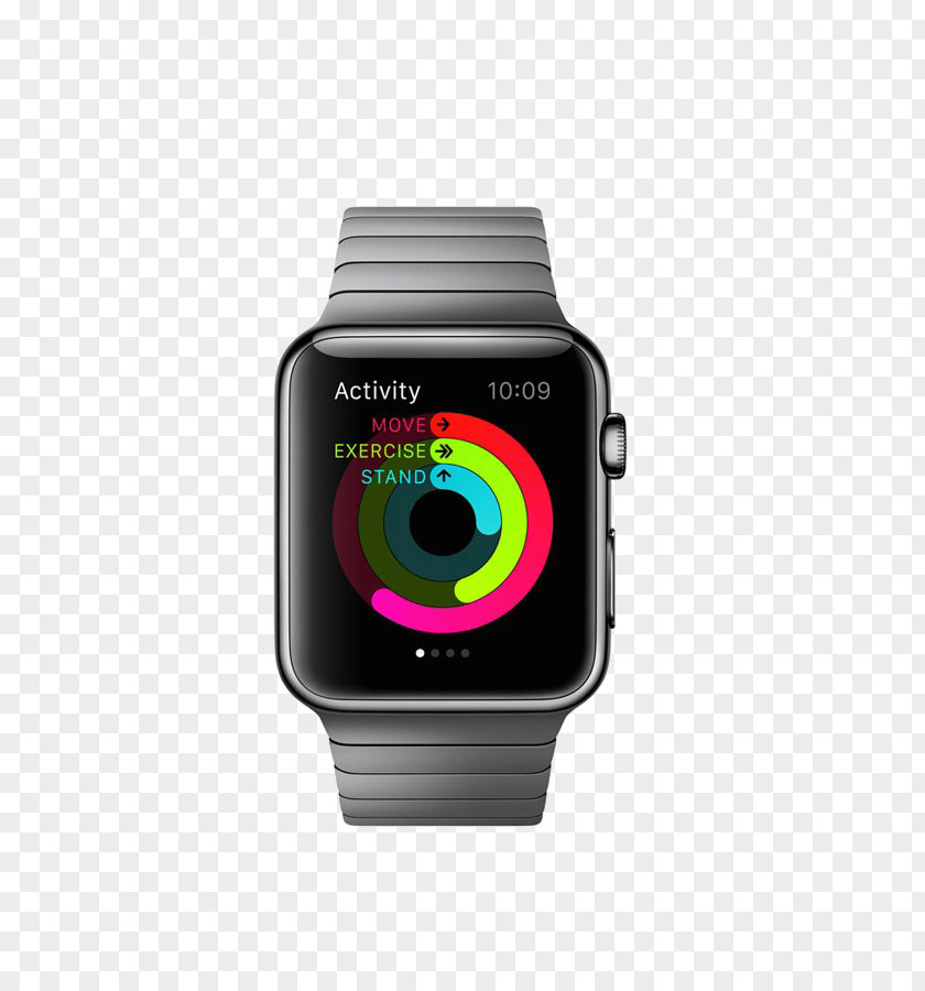 Black Watch Apple Series 2 Smartwatch PNG