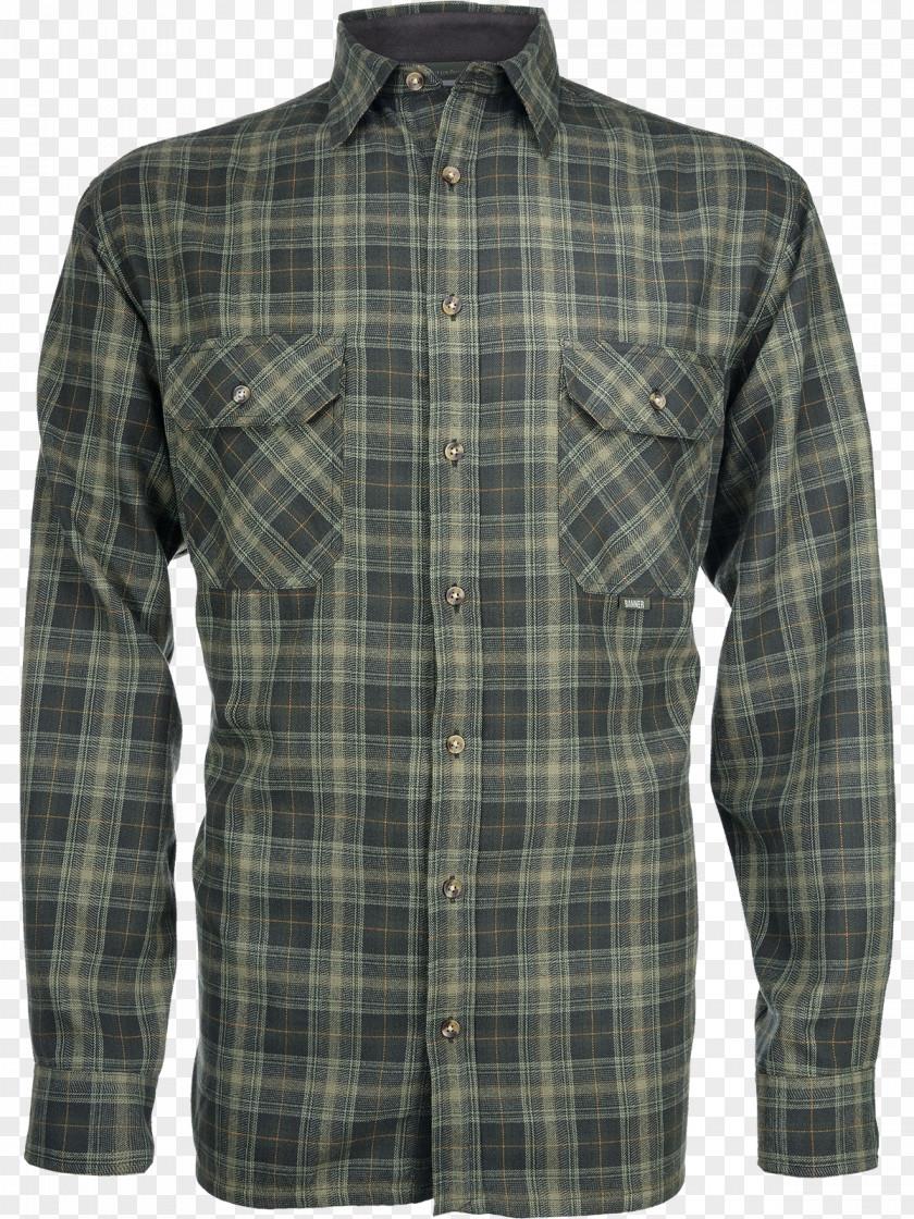 T-shirt Flannel Sleeve Tartan Clothing PNG