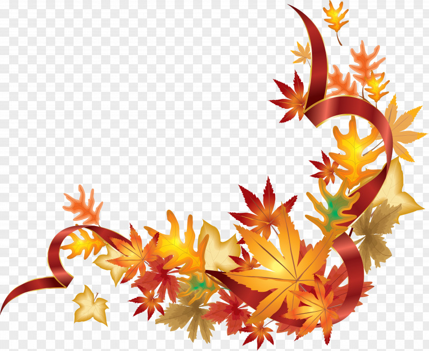 Fall Maple Leaf Border PNG maple leaf border clipart PNG