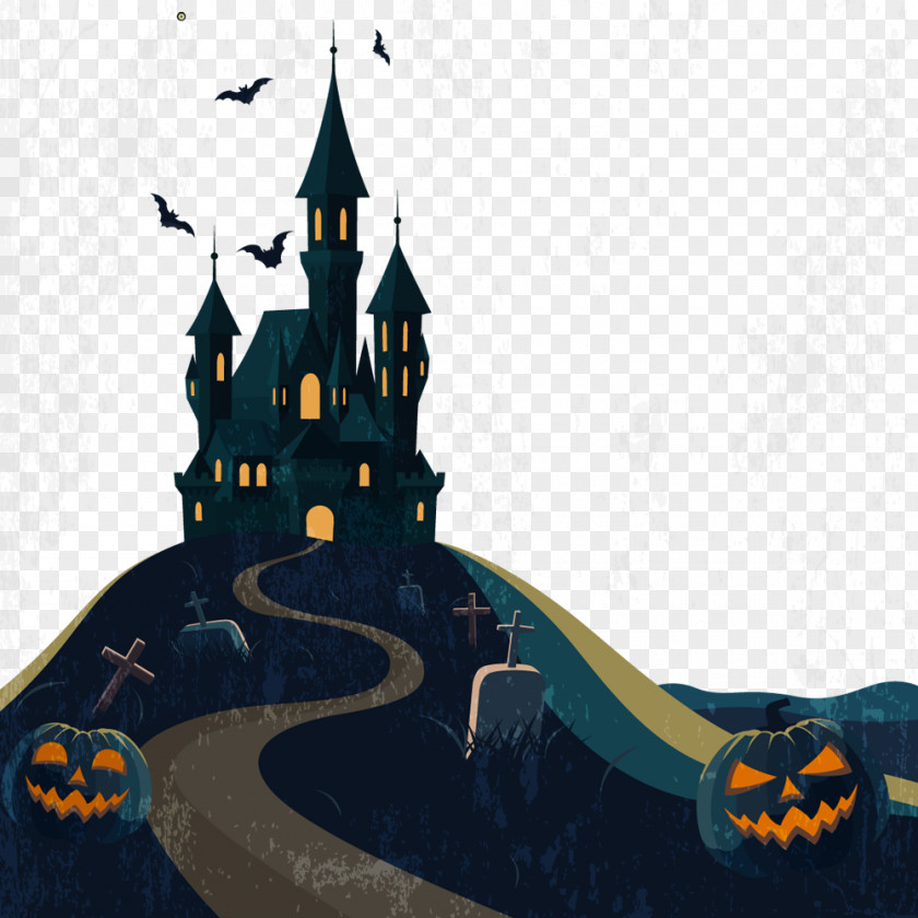 Christmas Horror House Halloween Haunted Attraction Clip Art PNG